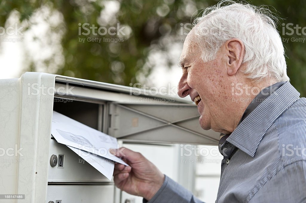 Receiving the mail stock photo