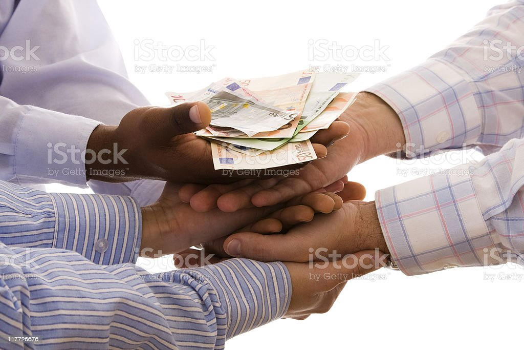 receiving the money royalty-free stock photo