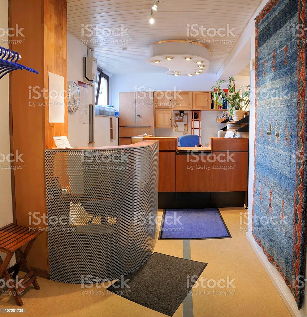 Reception area medical office entrance registration desk royalty-free stock photo
