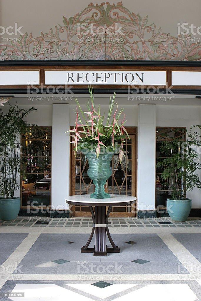 Reception area. stock photo