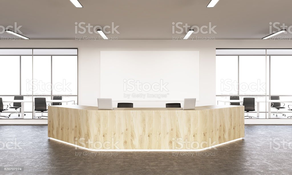 Reception area stock photo