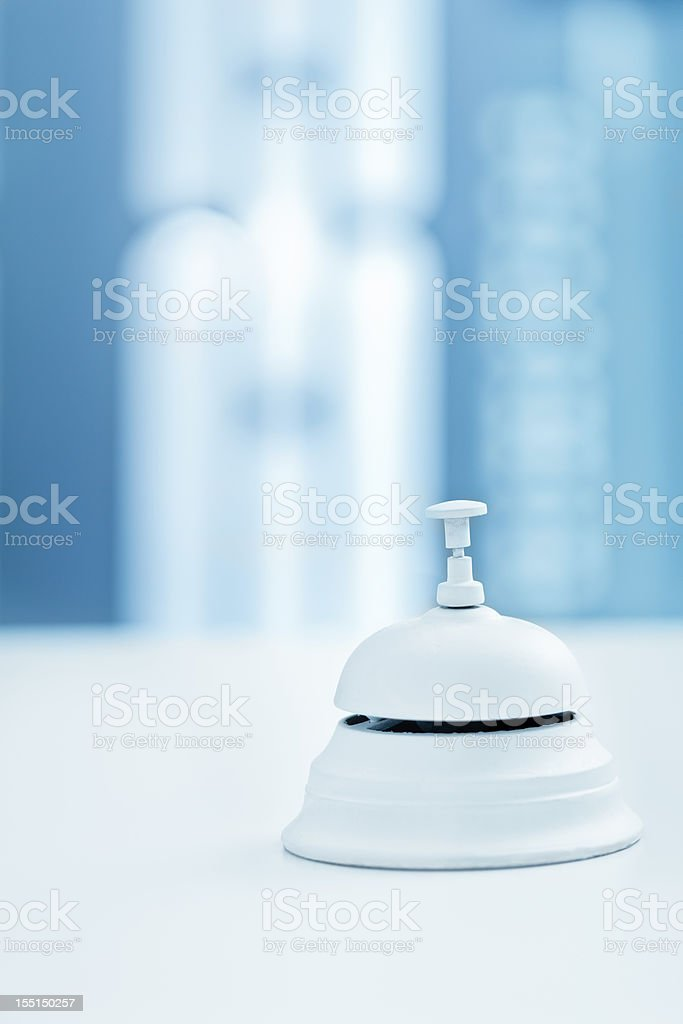 Reception bell in a modern hotel royalty-free stock photo