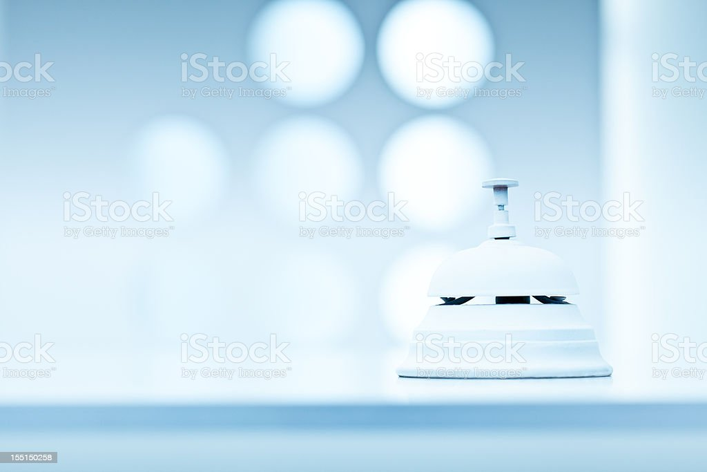 Reception bell in white space royalty-free stock photo