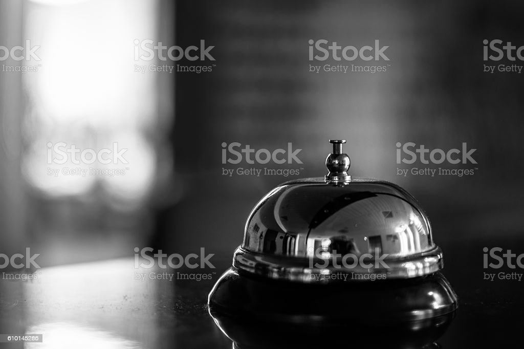 Reception bell stock photo