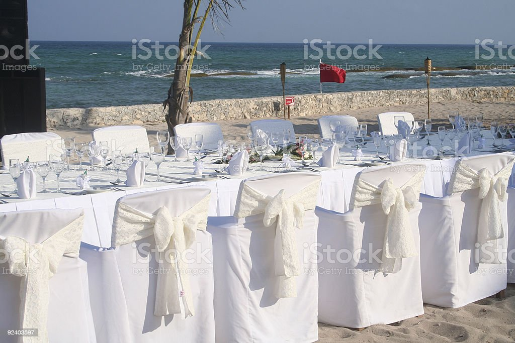 reception by the ocean royalty-free stock photo