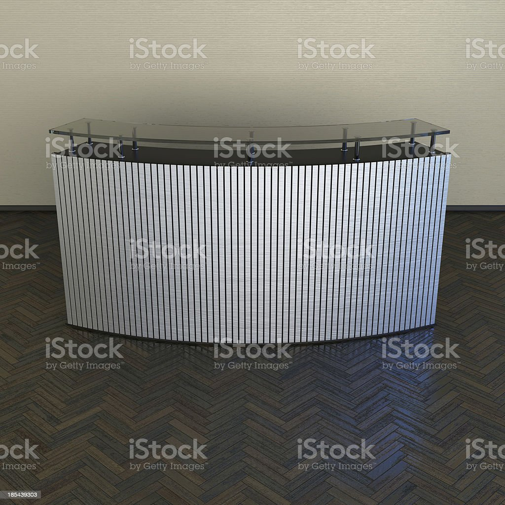 reception counter design royalty-free stock photo