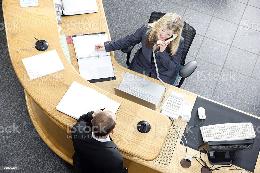 Reception desk at modern office royalty-free stock photo