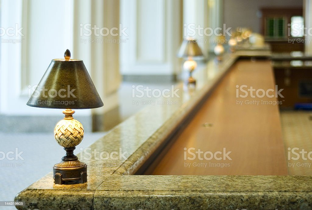 Reception Desk stock photo