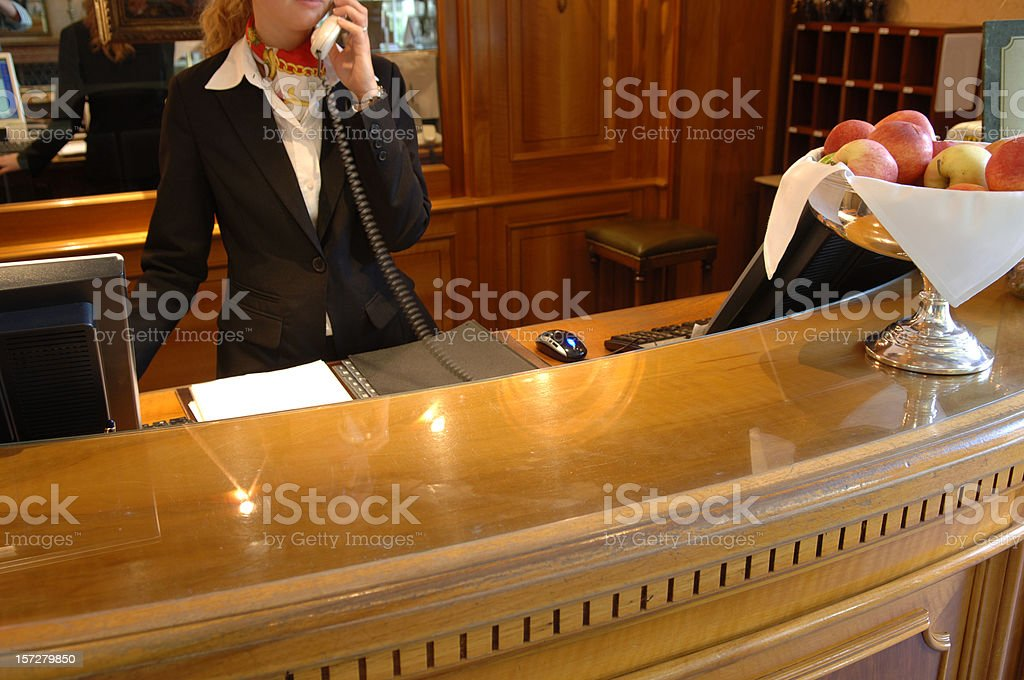 Reception desk royalty-free stock photo