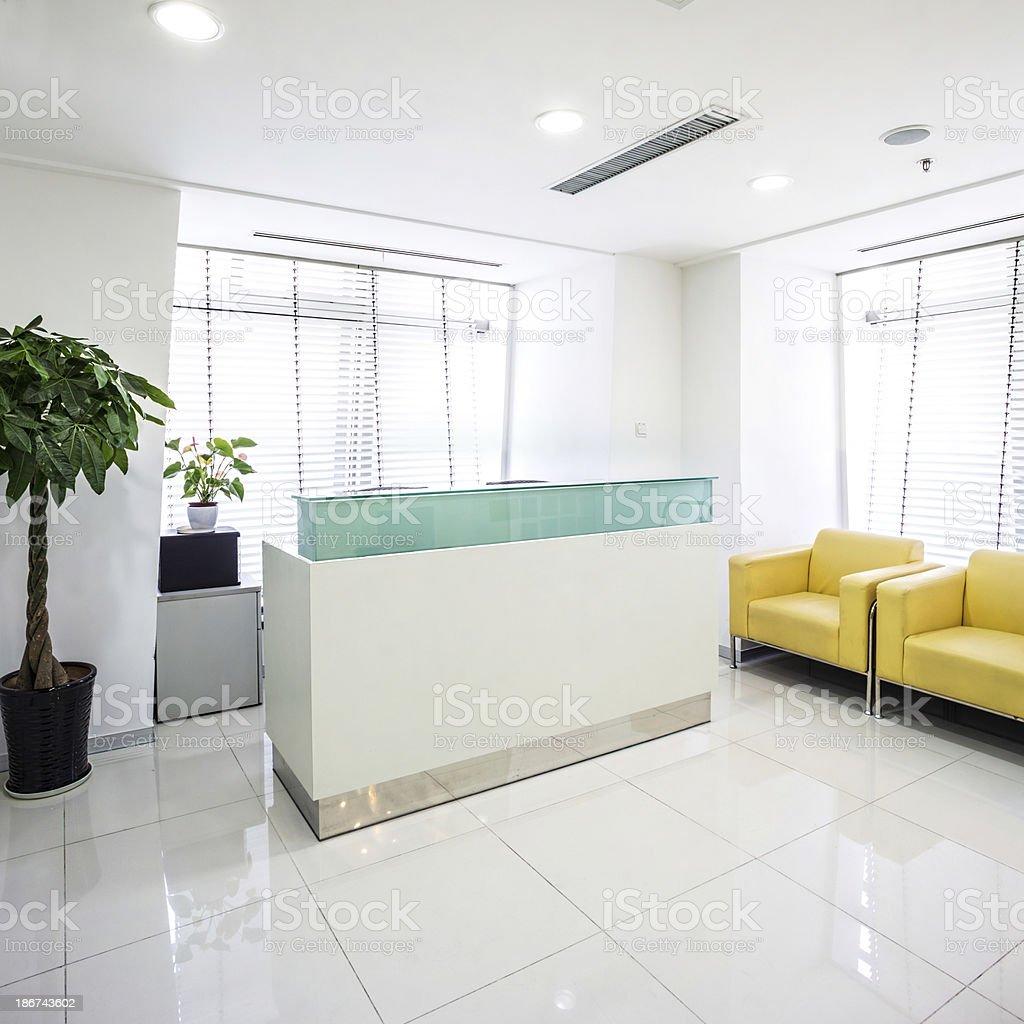 reception desk royalty-free stock photo