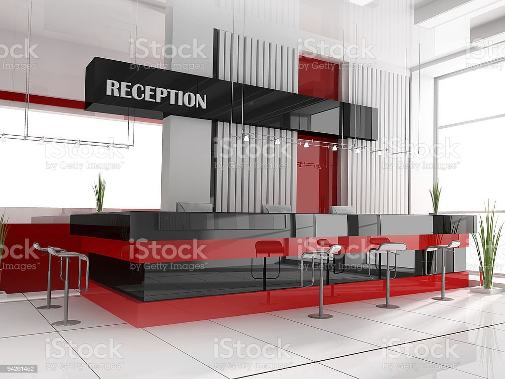 Reception in hotel royalty-free stock photo