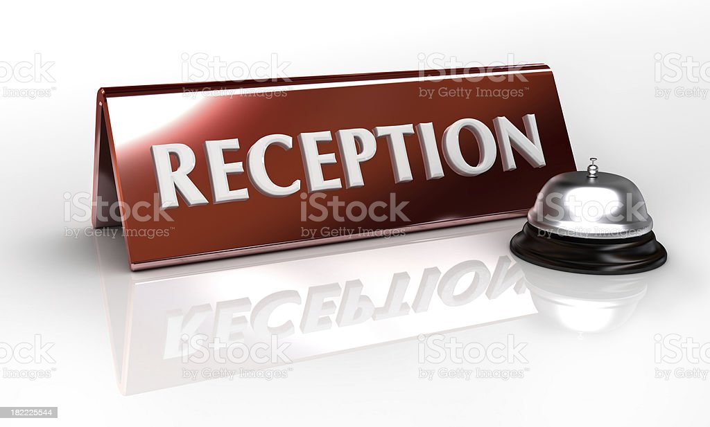 reception place card royalty-free stock photo