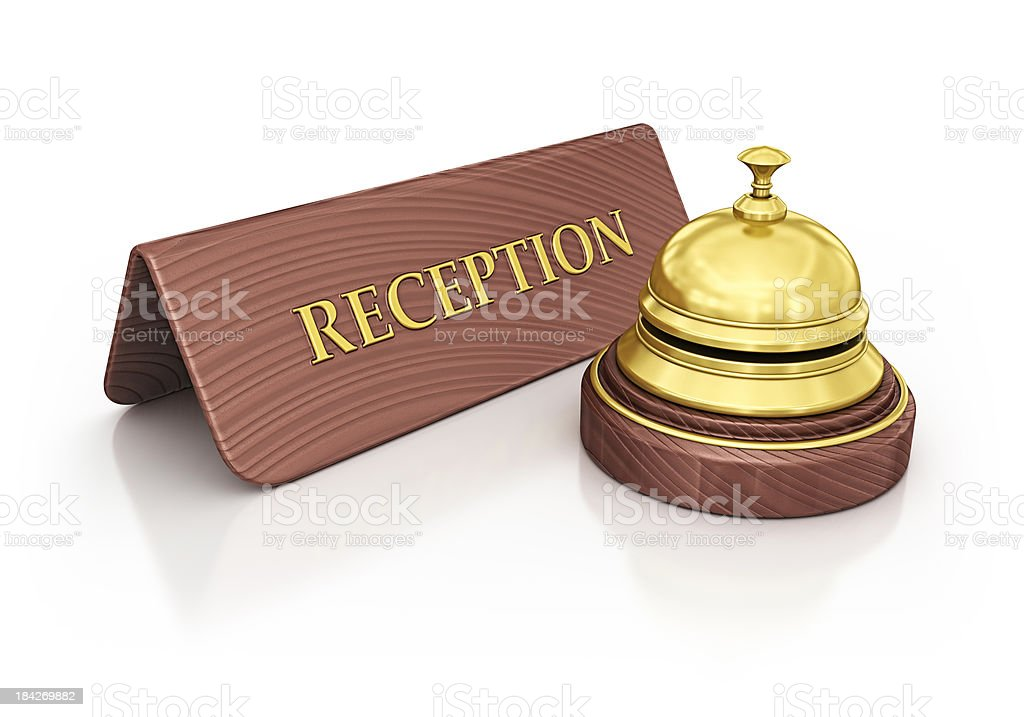 reception plate and bell royalty-free stock photo
