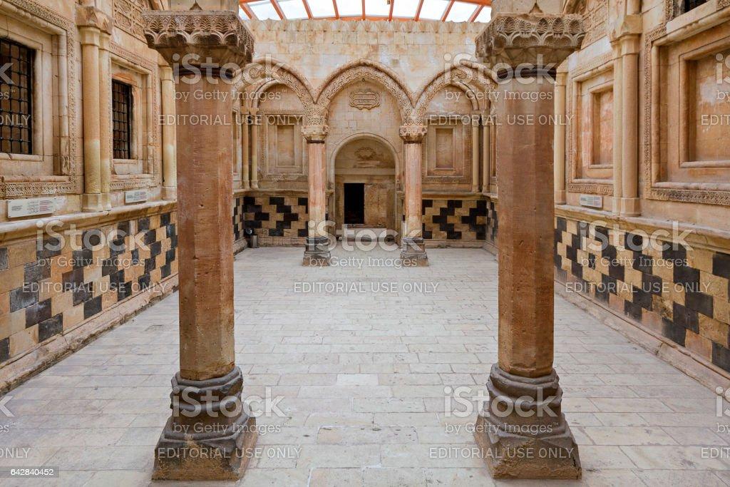 Dogubayazit, Turkey - April 6, 2014: Reception room of the Ishak Pasha Palace in Dogubayazit, Turkey. stock photo