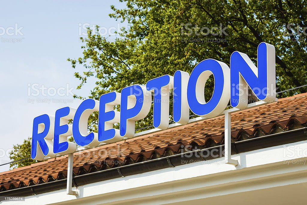 Reception sign royalty-free stock photo