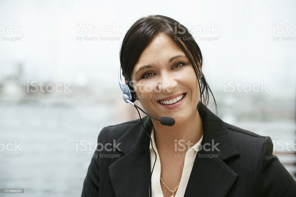 Receptionist at work royalty-free stock photo