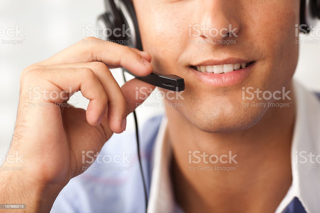 Receptionist man royalty-free stock photo