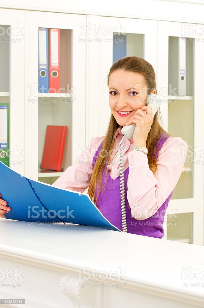 Receptionist royalty-free stock photo