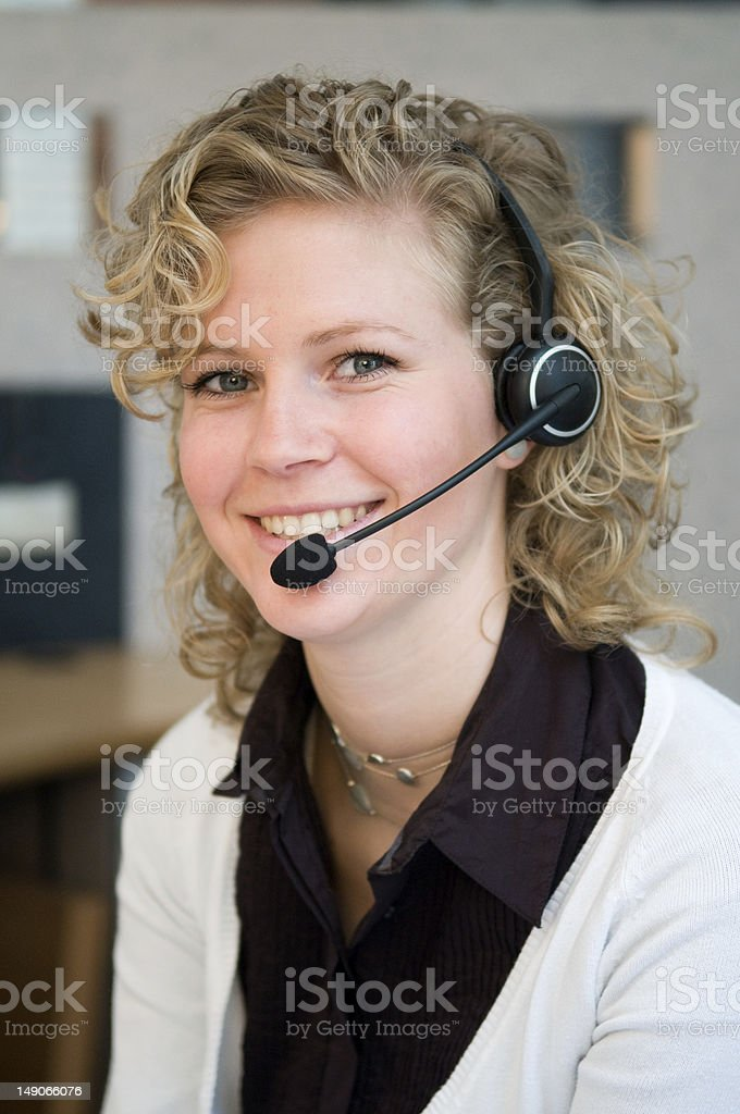 Receptionist stock photo