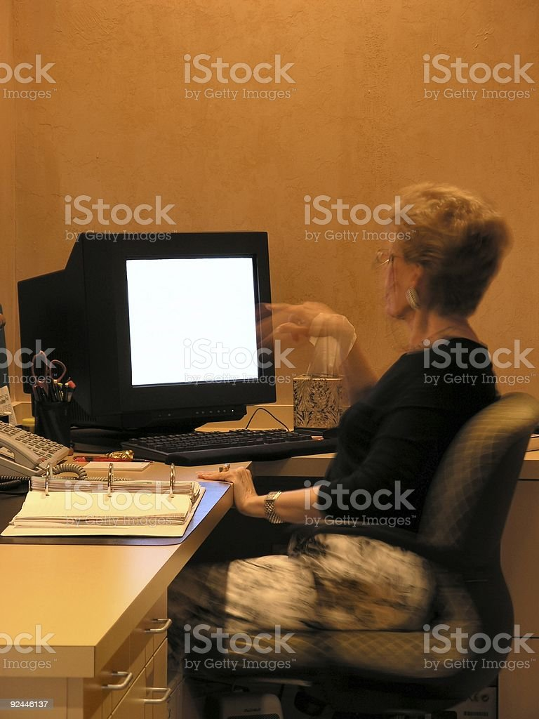 Receptionist royalty-free stock photo