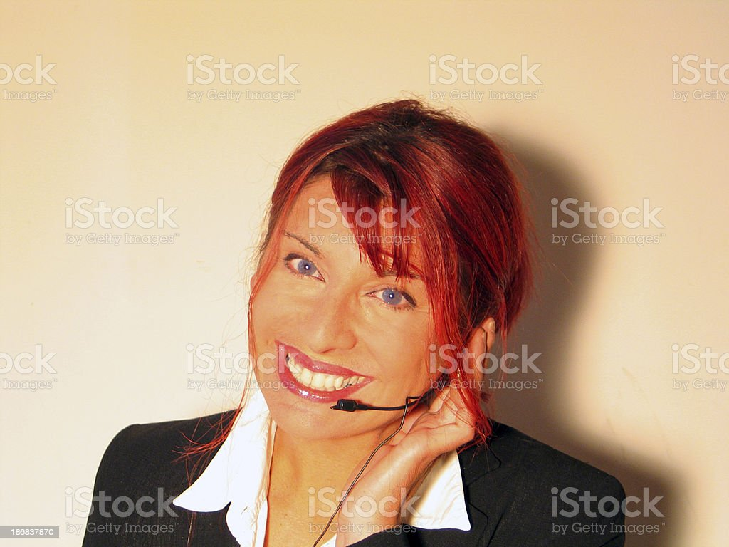 Receptionist smiling royalty-free stock photo