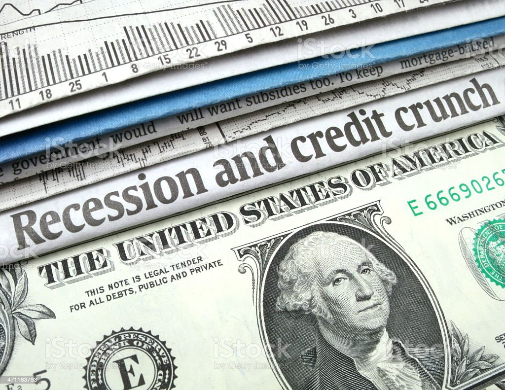Recession and Credit Crunch royalty-free stock photo