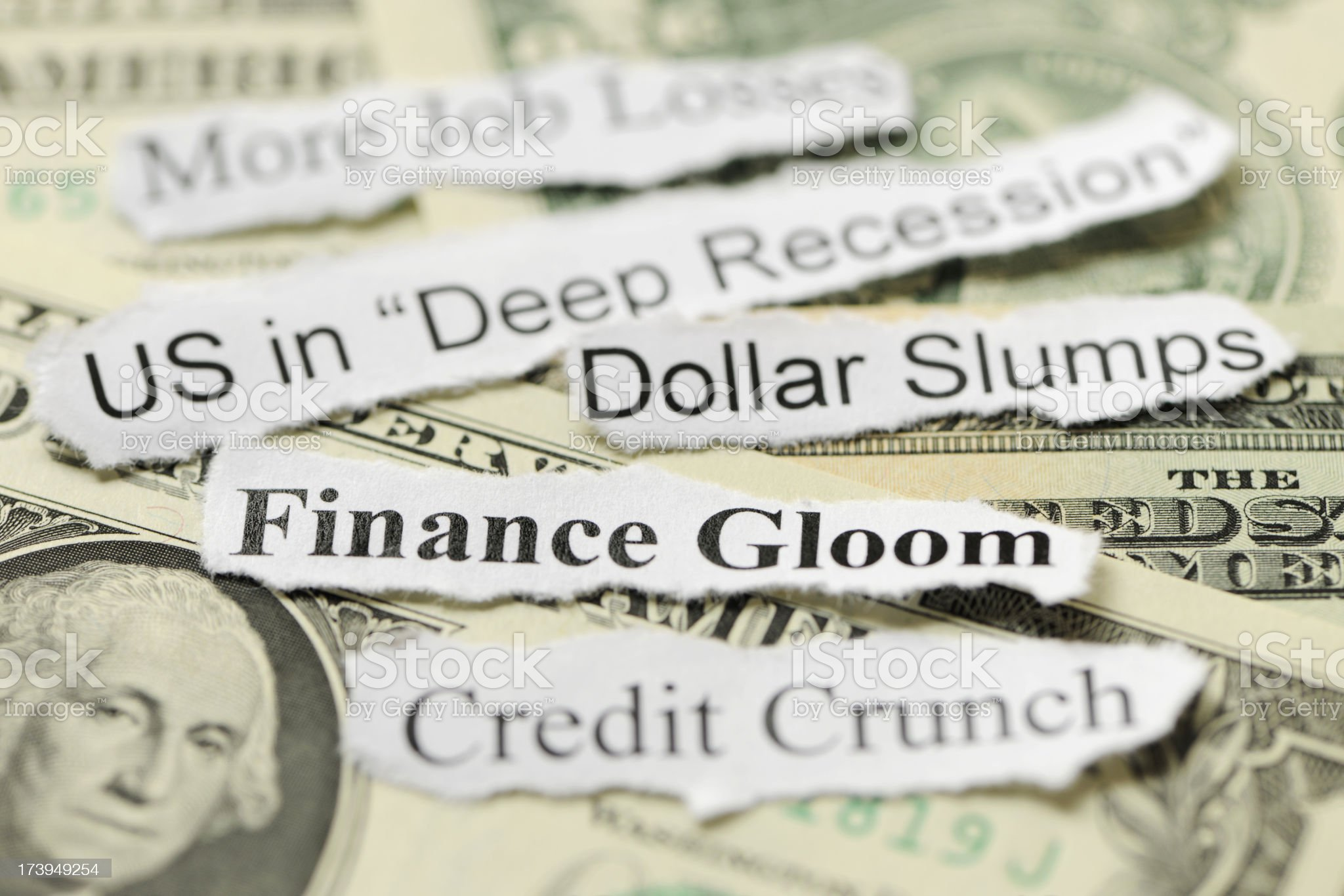 US recession and finance gloom royalty-free stock photo