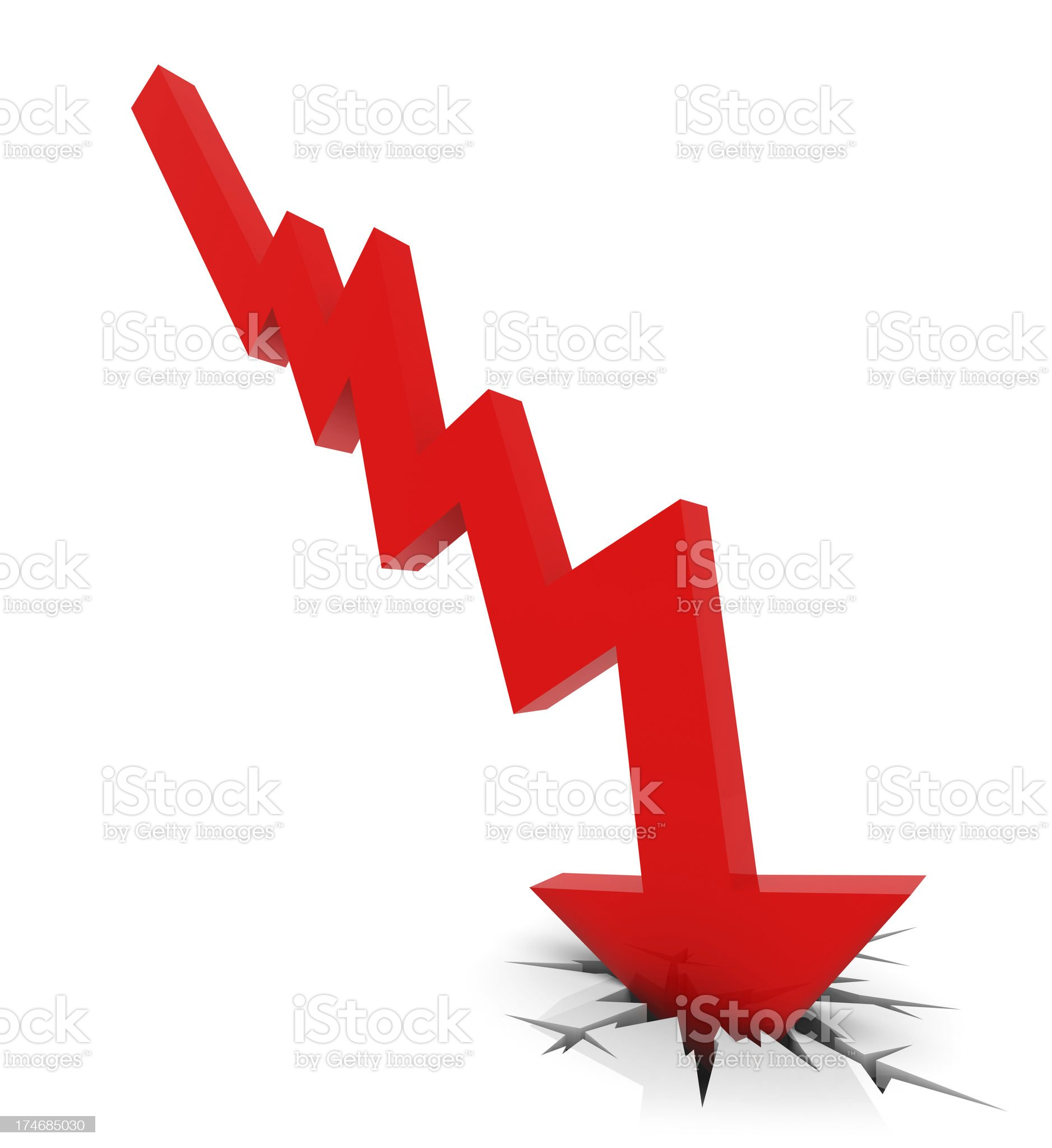 Recession Chart royalty-free stock photo