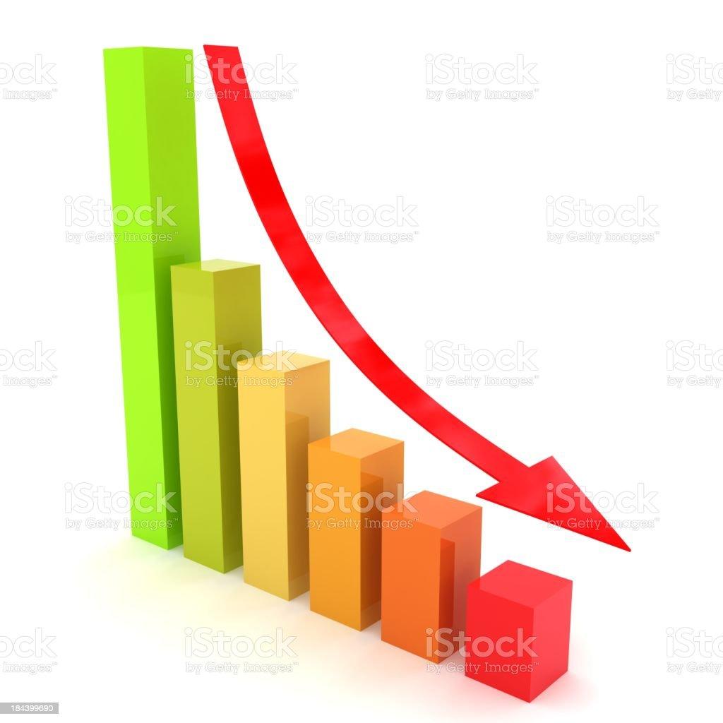 Recession Chart stock photo