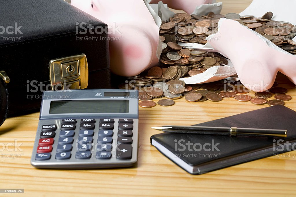 Recession concept shot royalty-free stock photo