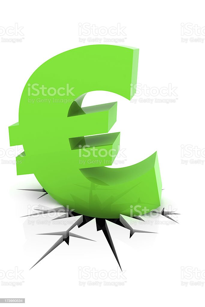 Recession Crack royalty-free stock photo
