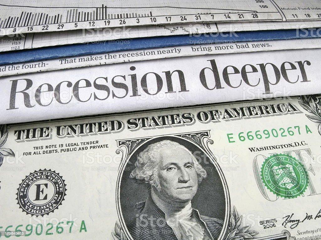 Recession Deeper stock photo