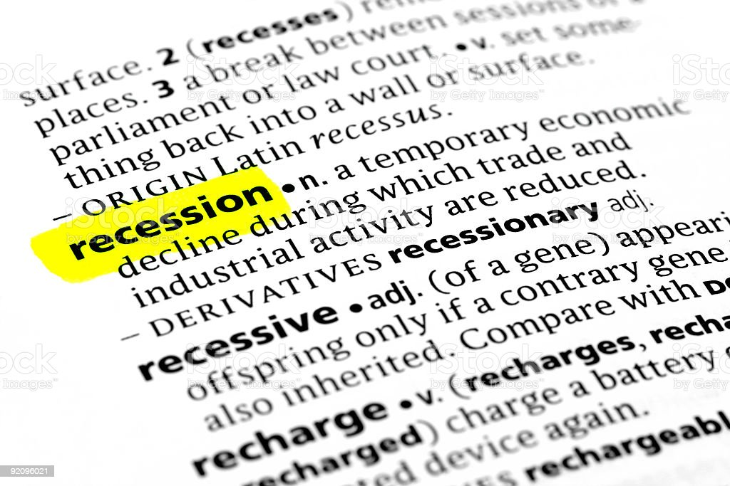 Recession definition royalty-free stock photo