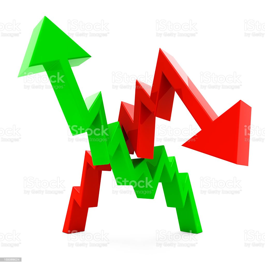 Recession Growth Chart royalty-free stock photo