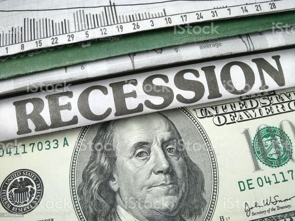 Recession Headline royalty-free stock photo