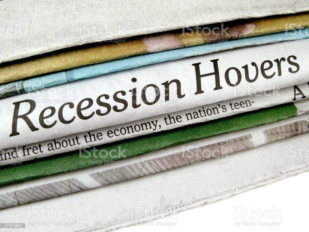 Recession Headline stock photo