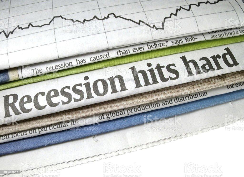 Recession Hits Hard stock photo