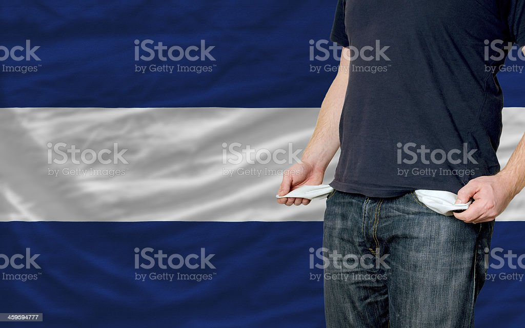 recession impact on young man and society in nicaragua stock photo
