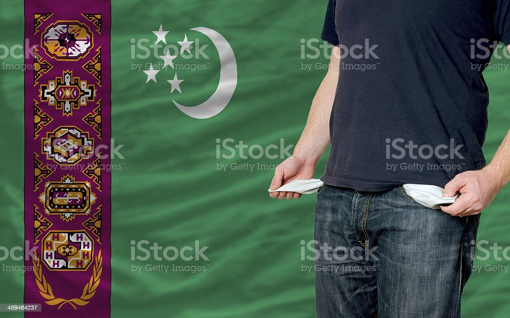 recession impact on young man and society in turkmenistan stock photo