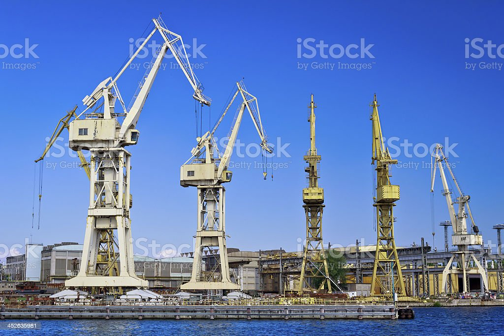 Recession in shipyard royalty-free stock photo