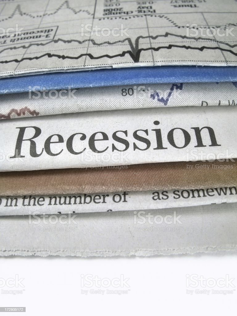 Recession News royalty-free stock photo