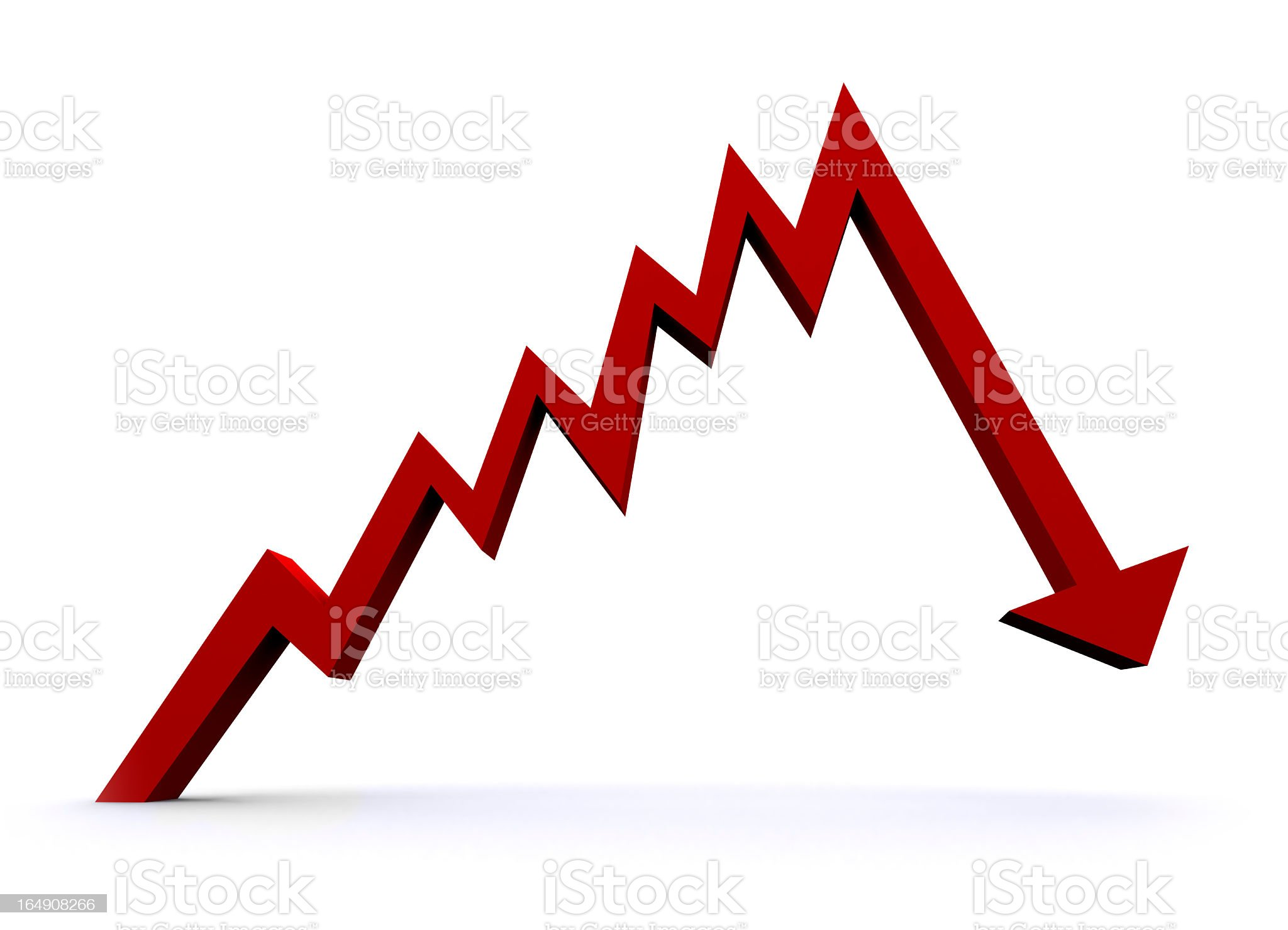 Recession royalty-free stock photo