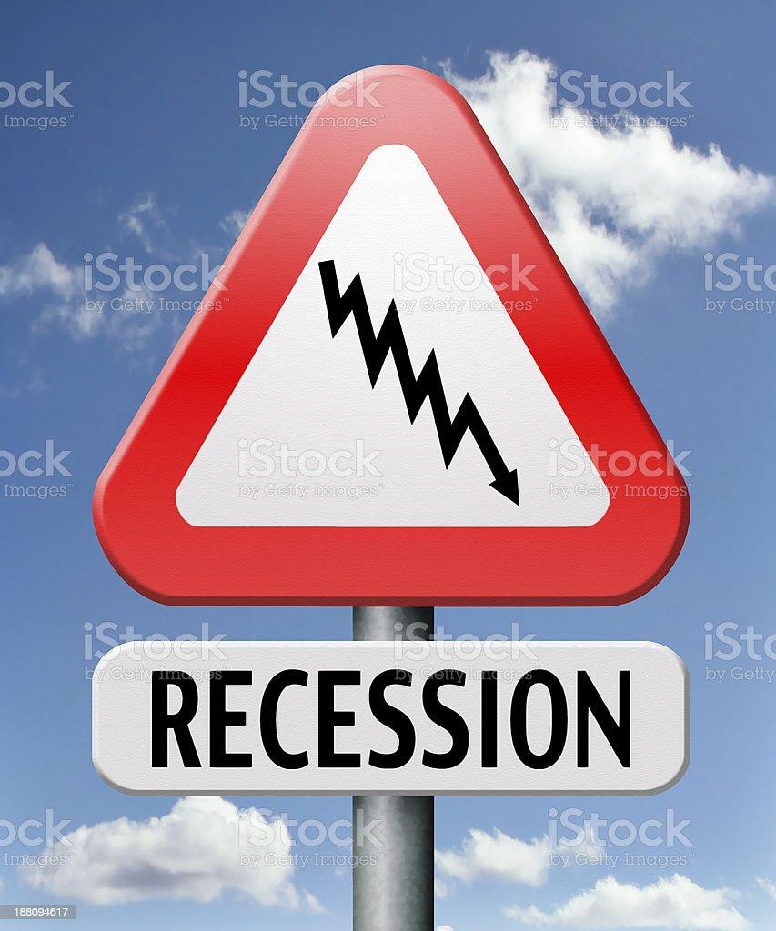 recession stock photo