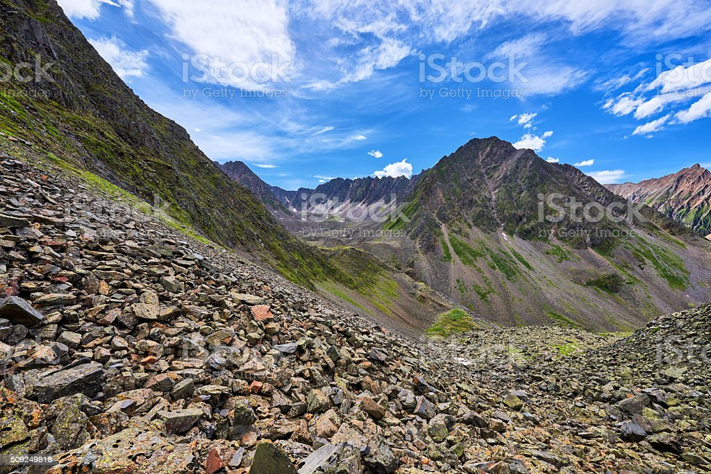 Recessional moraine. Geomorphology stock photo