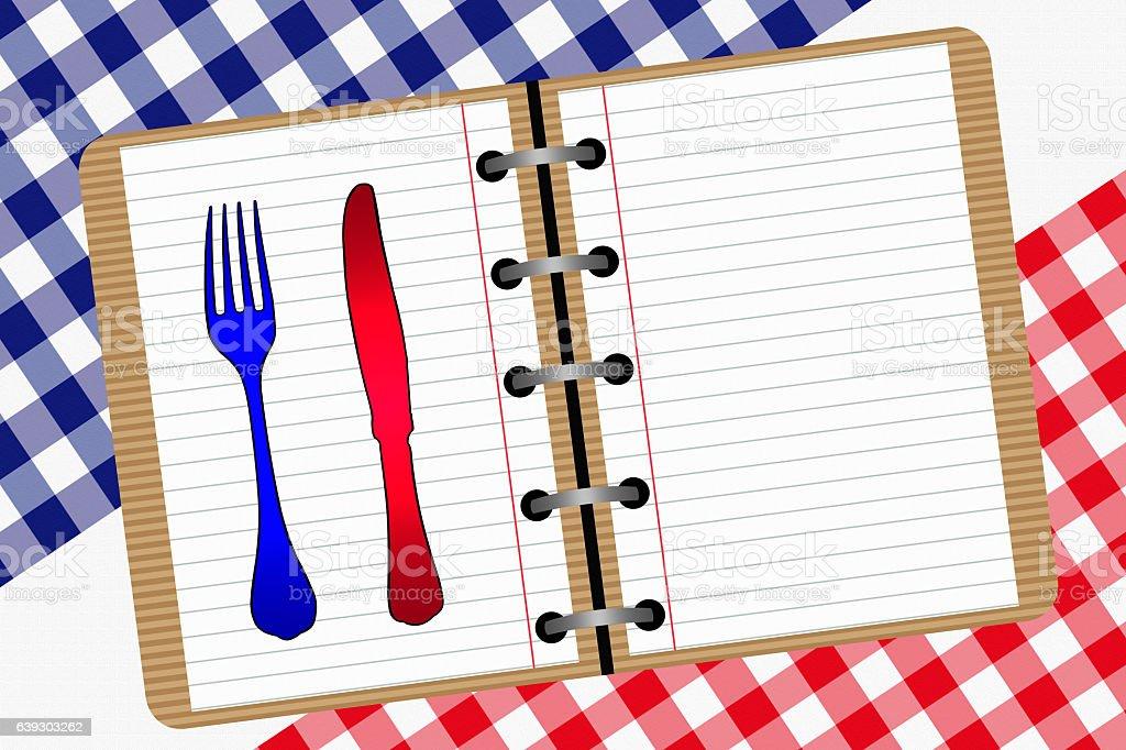 Recettes de Cuisine française stock photo