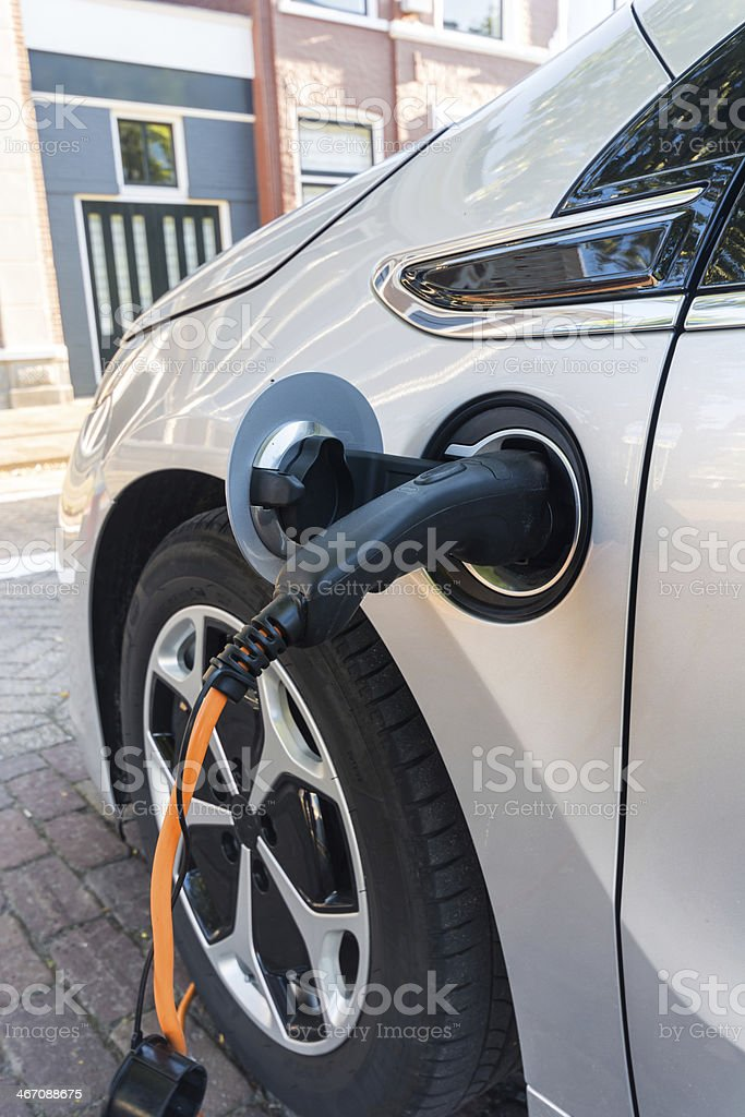 Recharge in the street stock photo