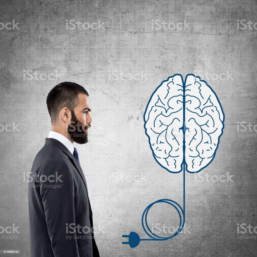 Recharge your brain stock photo