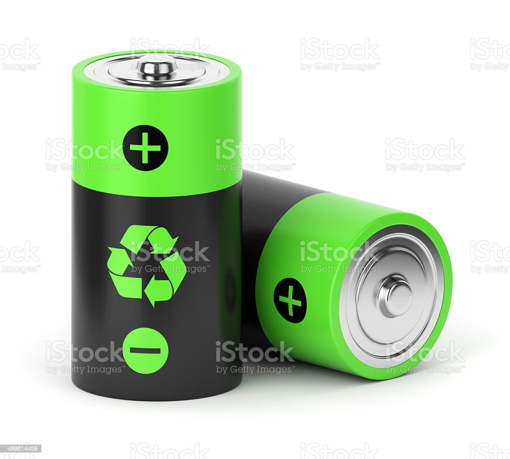 Rechargeable batteries stock photo