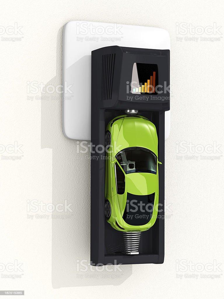 Recharging car royalty-free stock photo