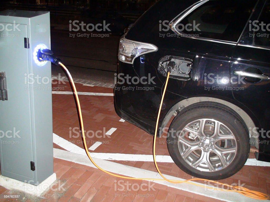 Recharging car stock photo